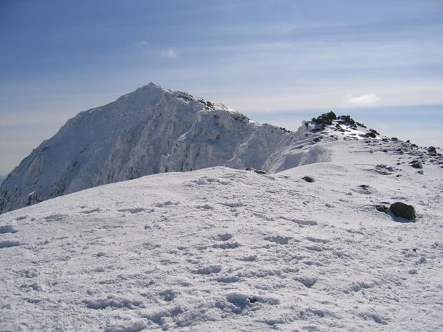 Yr Wyddfa/Snowdon summit from near the obelisk