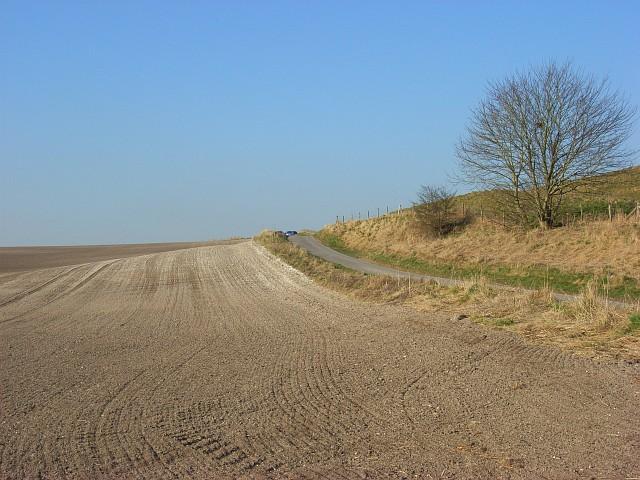 Farmland below Barbury Castle