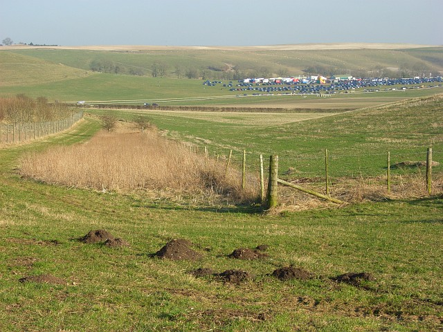 A view across Barbury Castle point-to-point course