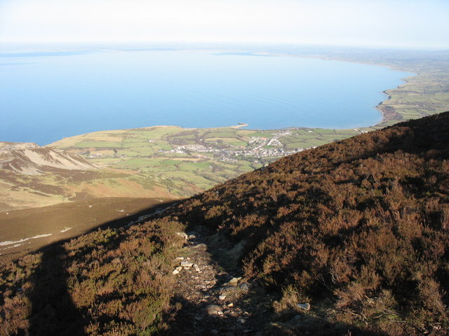 The Bwlch yr Eifl path to the summit of Yr Eifl