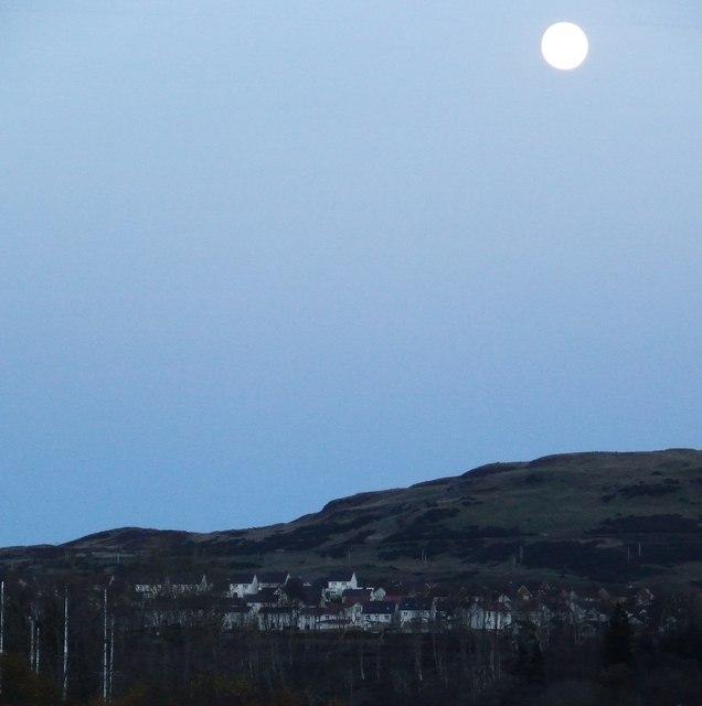 Moon over Cauldron Hill