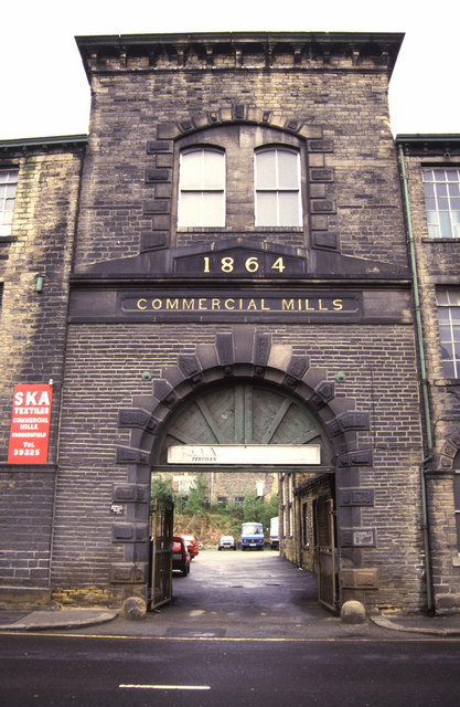 Commercial Mills entrance