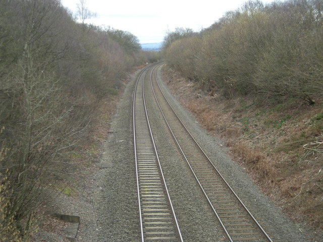 Shrewsbury to Crewe railway line