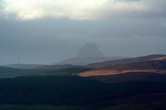 View of Suilven from Hill by East Coast