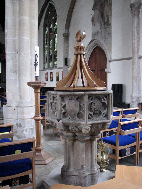 St Mary's church - baptismal font