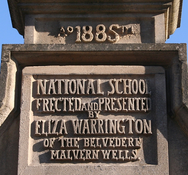 Plaque, Malvern Wells C.of E. Primary School