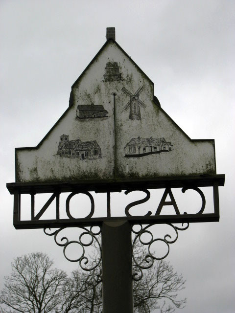 Caston - the other side of the village sign