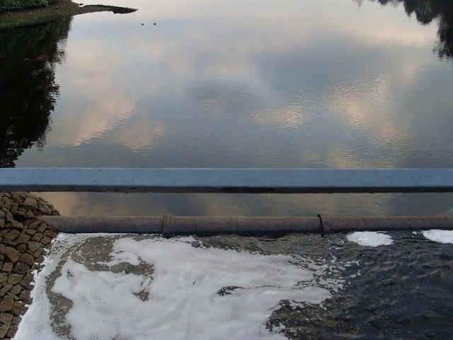 Water flowing into main body of Mugdock Reservoir