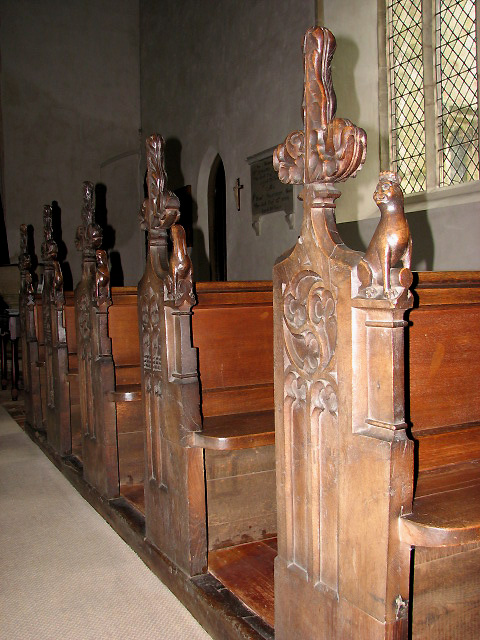 Church of the Holy Cross - medieval bench ends