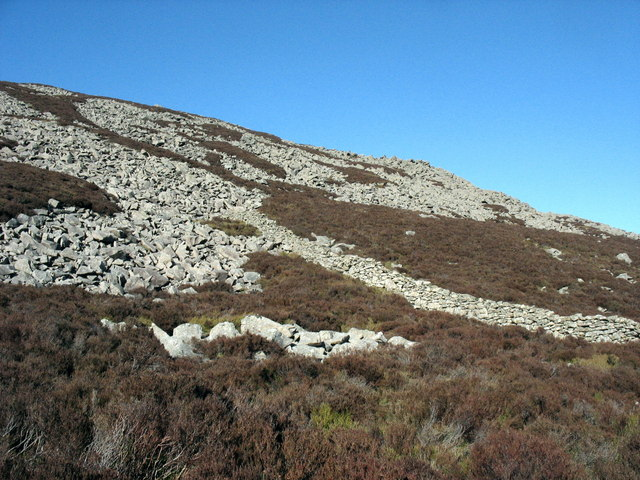 Bouldery screes on the north-eastern slopes of Yr Eifl