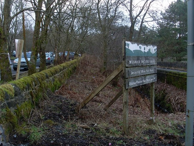 Entrance sign to Mugdock Country Park