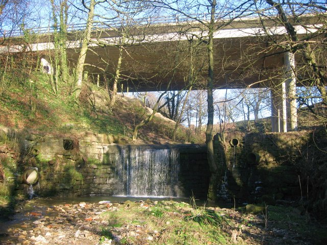 Waterfall beneath the M66