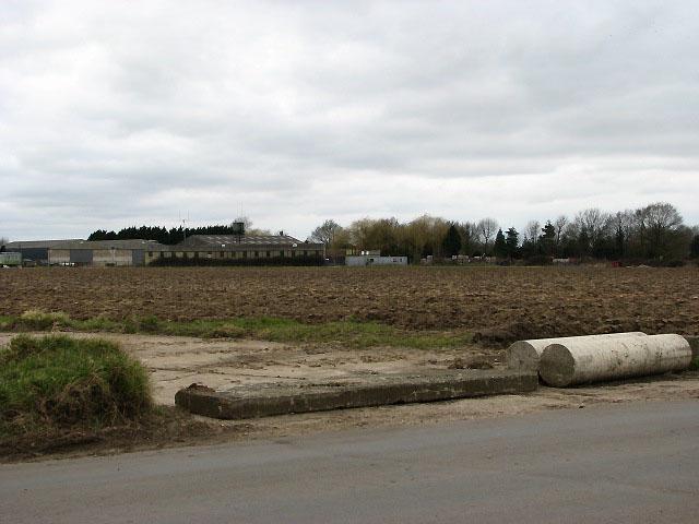 Stalland Farm seen from across a field