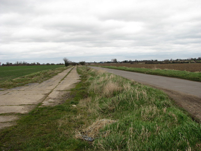 Road and runway running parallel