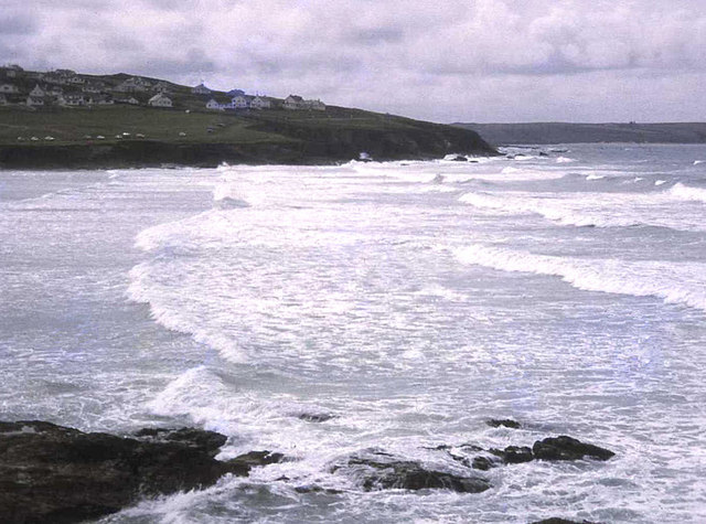 Windy day at Polzeath
