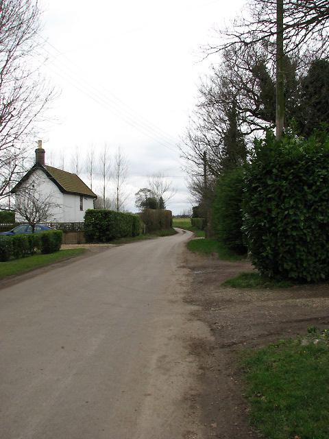 View west along Stalland Lane