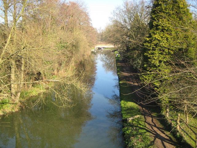 River Wey Navigation upstream of Bowers Lock