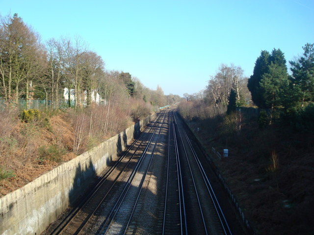View from Railway Bridge, Chislehurst Road, Orpington