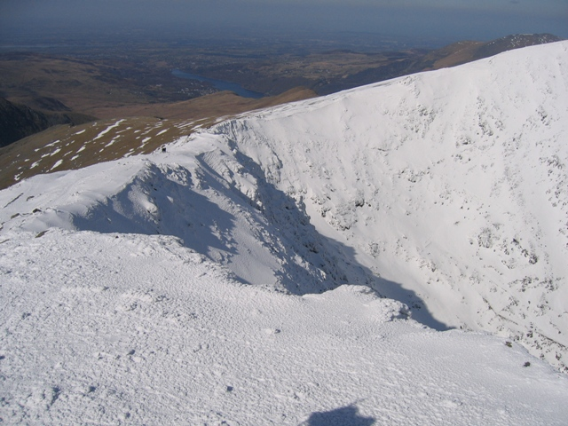 Bwlch Glas from the summit of Yr Wyddfa/Snowdon