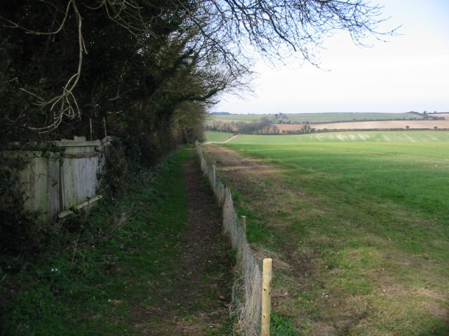 Footpath across Sutton Down