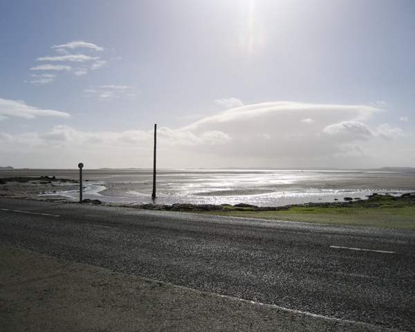 View across Beal Sands from the Holy Island causeway
