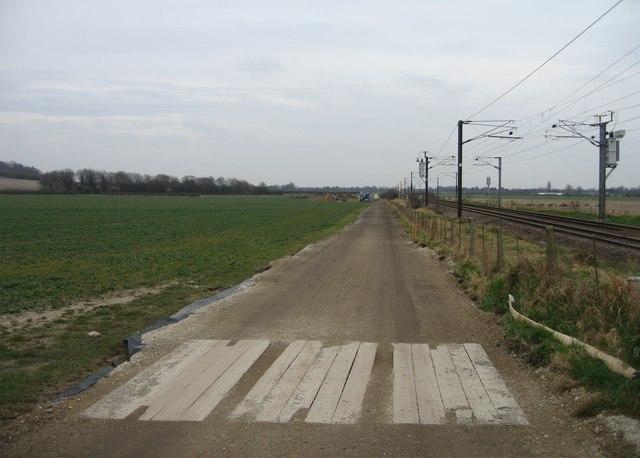 Farm track heading towards Nine Wells