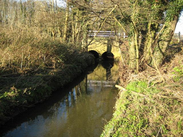 Clasford Brook at Tickner's Bridge, Willey Green