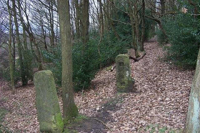 Gateposts in Elland Park Wood