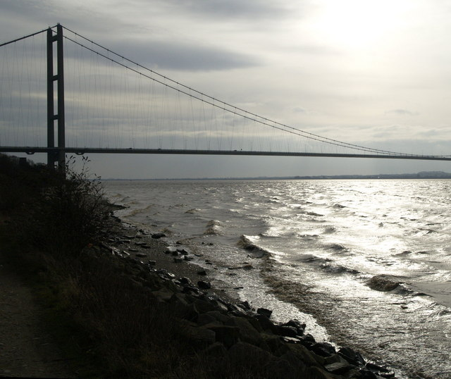 The Humber River shore west of Hessle