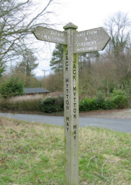 Jack Mytton Way signpost