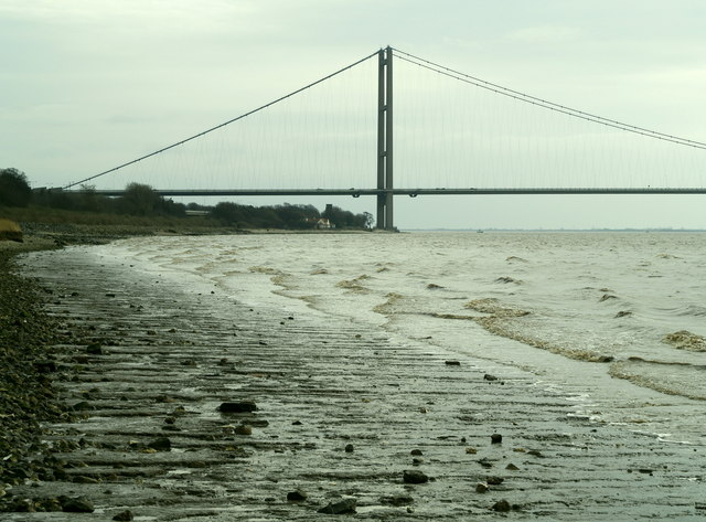 The River Humber and Humber Bridge from west of Hessle