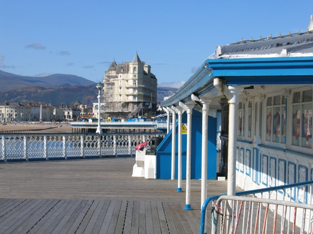 The end of Llandudno Pier looking towards the Grand Hotel