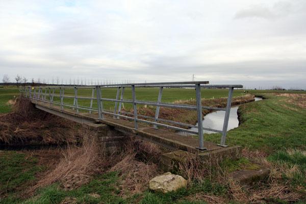 Footbridge towards golf course