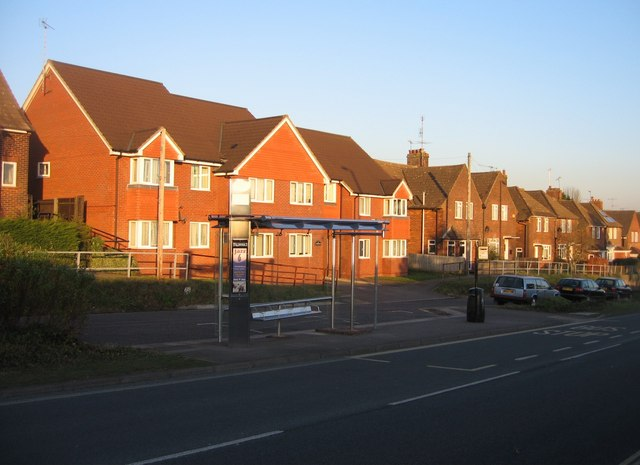 New bus stop on the Kingsclere Road