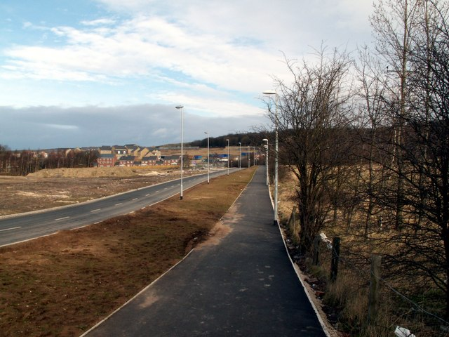 The new Woolley Colliery Road