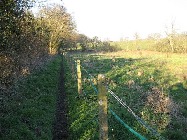 Wood Street Village: Footpath to Littlefield Manor