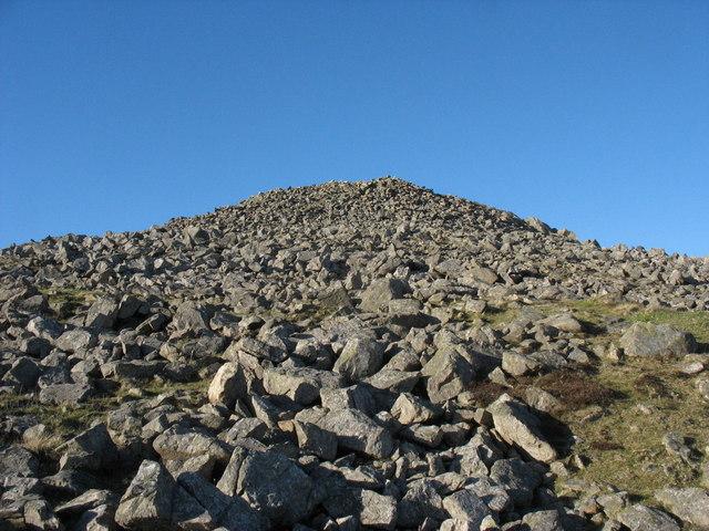 The 6m high and 30m diameter Carnguwch cairn