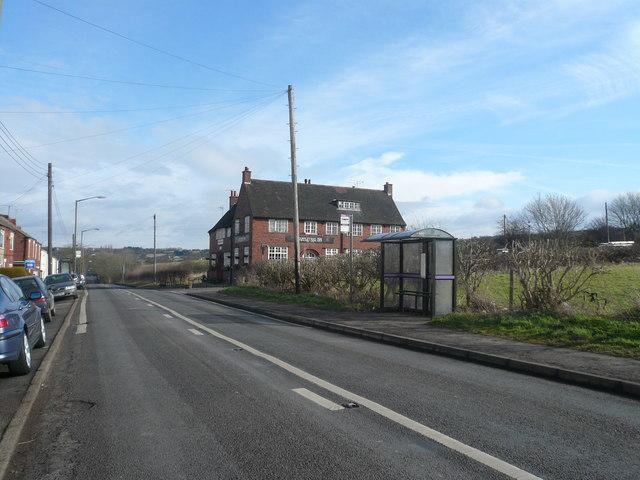 Clowne Road (B6418) and The Appletree Inn