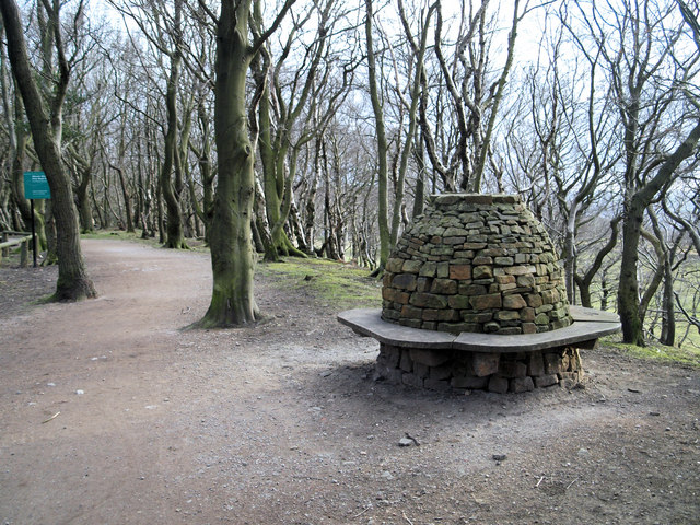 Beehive seat adjacent to the car park to Wheata Woods