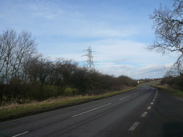 B6417 View Showing Pylon and Overhead Cables.