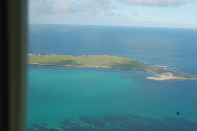 View of the Holm of Papay, from the air