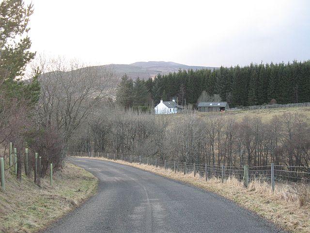 The Kirkmichael - Dalrulzion road