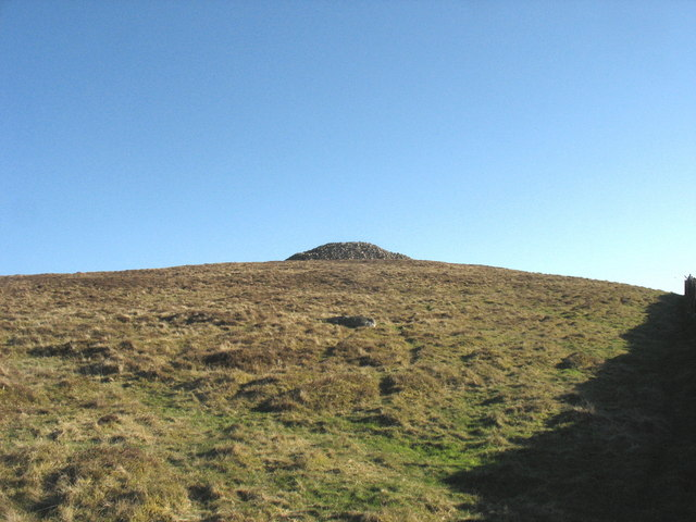 The final climb to the summit of Mynydd Carnguwch
