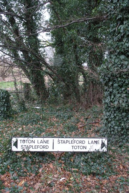 Older Two Lanes sign