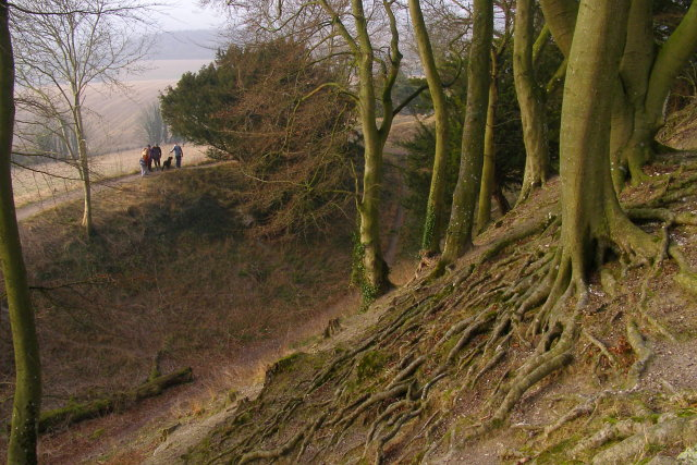 Old Sarum's outer ditch