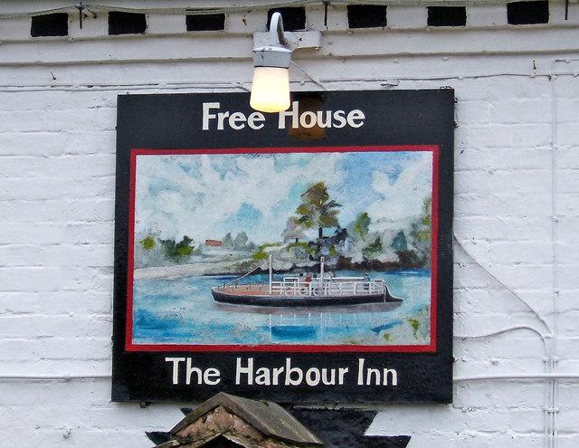 Sign on The Harbour Inn