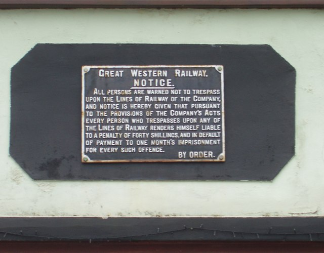 Great Western Railway Plaque