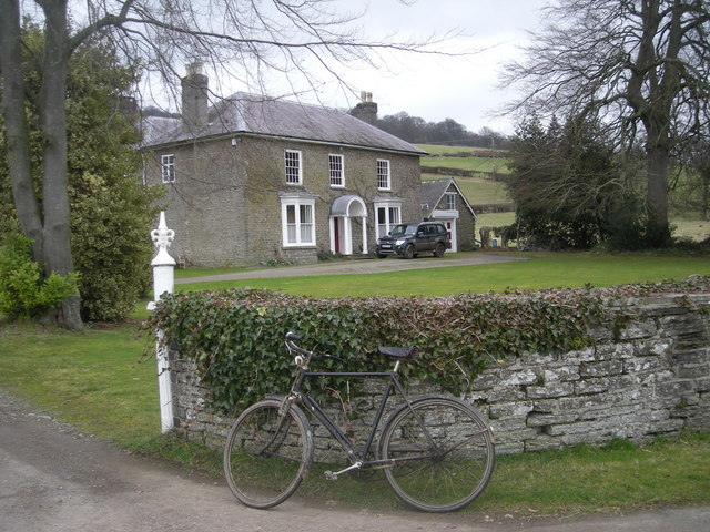 Ackhill House & an old bike