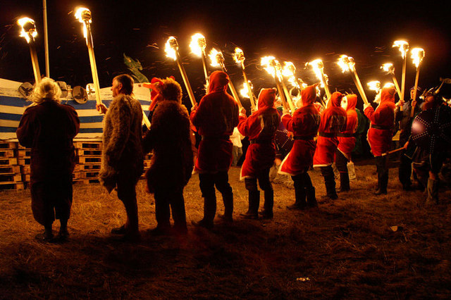 Guisers at Norik Up Helly Aa