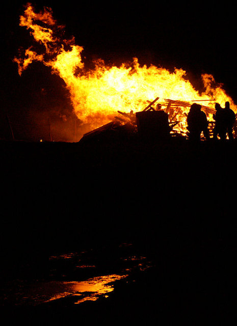 The burning galley, Norik Up Helly Aa